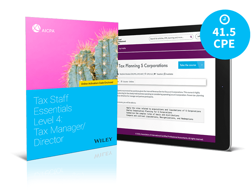 Tax Staff Essentials Level 4: Tax Manager/Director