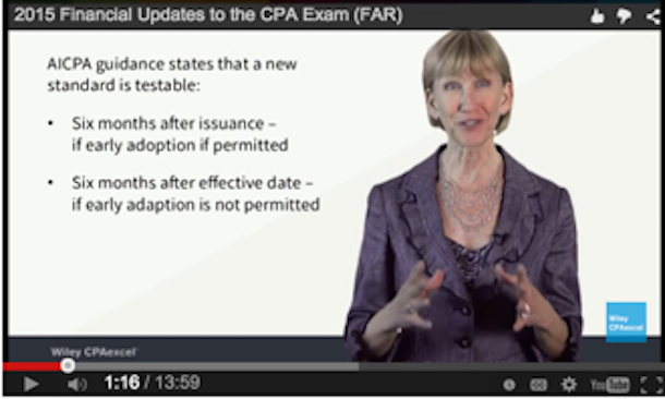 CPA Exam updates july 2015
