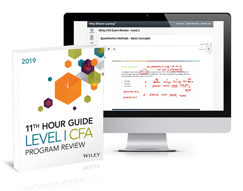CFA Final Review Level 1 Exam 2019 - Wiley CFA