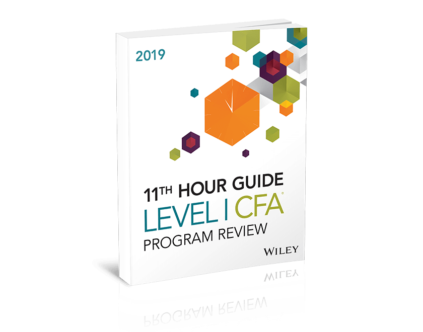 Wiley's Level I CFA Program Exam Review - 2019 Products