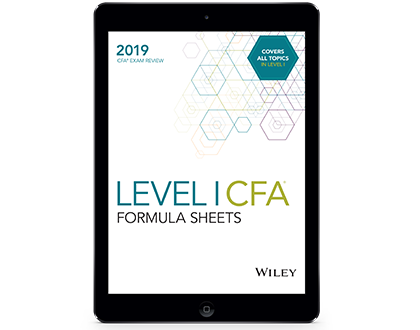 Formula Sheets for 2019 Level I CFA Exam